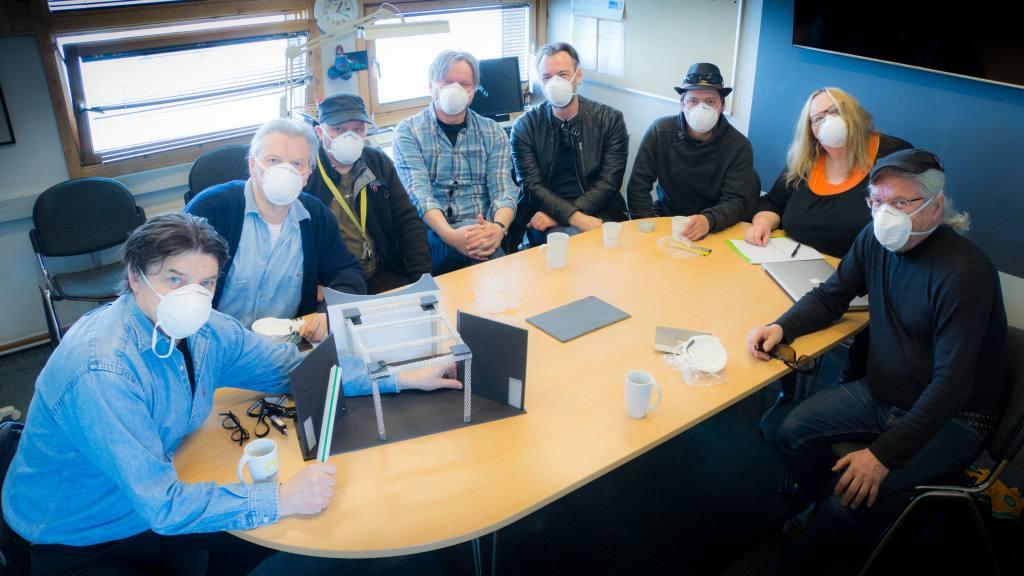 Jan Öqvist, Rolf Degerlund, Svein Egil Oskal, Roger Ludvigsen, Andreas Ausland, Ole Thomas Hætta, Hilde Skancke Pedersen, Bernt Morten Bongo (photo: Aslak Mikal Mienna)